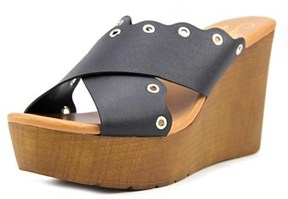 Callisto Darcii Open Toe Leather Wedge Heel.
