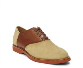 Ralph Lauren Chace Suede Saddle Shoe Dirty Buck/Dark Tan 7.5