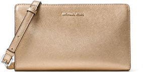 MICHAEL Michael Kors Jet Set Travel Large Crossbody Clutch Bag - GOLD - STYLE