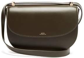 A.P.C. Genève Leather Cross Body Bag - Womens - Dark Green