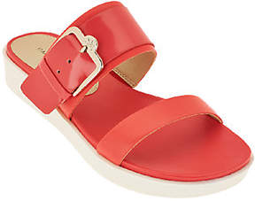 Isaac Mizrahi Live! Two Strap Sandals withBuckle Detail