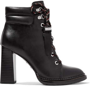 Sam Edelman Sondra Lace-up Leather Ankle Boots - Black