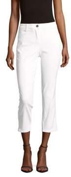 Basler Solid Cropped Capri Pants