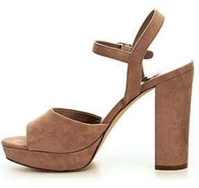 Madden-Girl Womens Shaarp Fabric Open Toe Casual Slingback Sandals.
