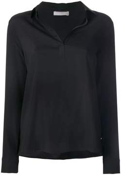 Le Tricot Perugia open collar blouse