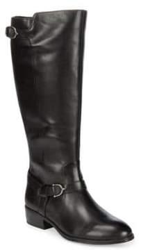 Lauren Ralph Lauren Margarite Wide Calf Leather Tall Boots