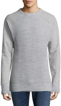Karl Lagerfeld Men's Crewneck Ribbed Sweater