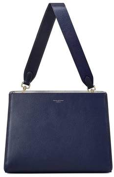 Aspinal of London Large Ella Hobo In Bluemoon Pebble With Plain Strap