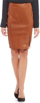 Antonio Melani Luxury Collection Leo Genuine Leather Skirt