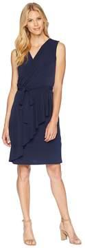 London Times Matte Jersey Wrap Dress Women's Dress