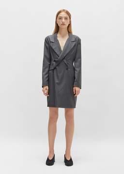 Aalto Pinstripe Blazer Dress Grey Size: FR 36