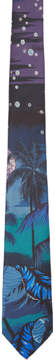 Paul Smith Navy Silk Hawaii Tie