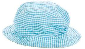 Papo d'Anjo Girls' Reversible Gingham Hat