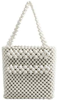 MANGO Beaded shopper bag