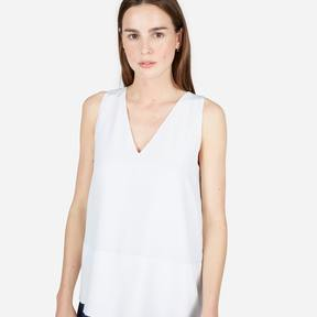 Everlane The Double-Lined Silk V-Neck Tank