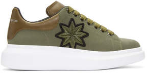 Alexander McQueen Green Embroidered Oversized Sneakers