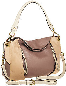 As Is orYANY Danielle Italian Leather Convertible Shoulder Bag