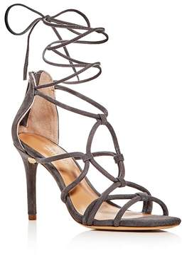 Halston Brielle Caged Ankle Wrap High-Heel Sandals