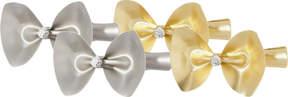 Elle Matte Gold & Silver Bow Salon Clips