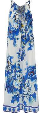 Camilla Convertible Crystal-Embellished Printed Silk Crepe De Chine Maxi Dress