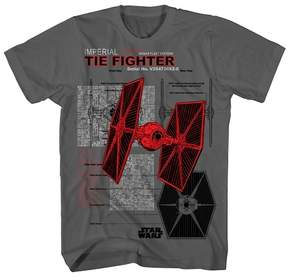 Star Wars Imperial Ties Fighter Boys' Graphic T-Shirt - Charcoal