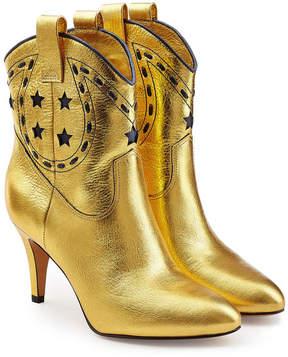 Marc Jacobs Georgia Metallic Leather Cowboy Boots