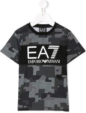Emporio Armani Kids camouflage print T-shirt