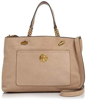 Tory Burch Chelsea Suede Tote - STUCCO/GOLD - STYLE