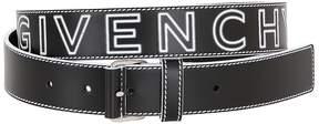 Givenchy 30mm Logo Printed Leather Belt