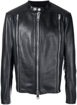 Les Hommes bonded zip biker jacket