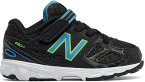 New Balance Black Hook-and-Loop 680v3 Running Shoe