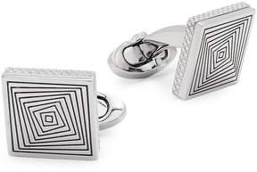 Tateossian Men's Titanium Square Graphic Cufflinks