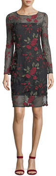 Cupcakes And Cashmere Zabrina Floral-Embroidered Cocktail Dress