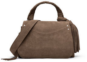 Elizabeth and James Trapeze Small Tassel Crossbody Bag