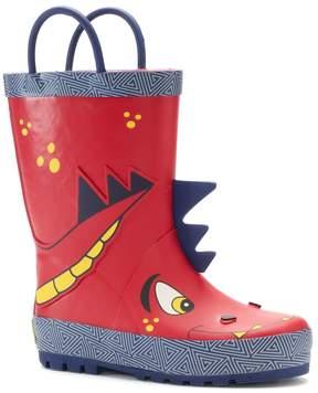 Western Chief Spike Dragon Toddler Boys' Waterproof Rain Boots
