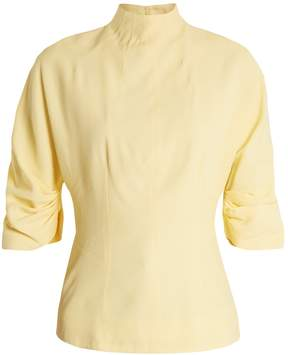 Emilia Wickstead Cut-out back high-neck top