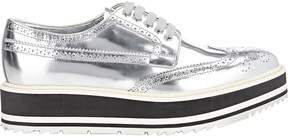 Prada Women's Wingtip Brogue Platform Sneakers
