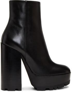 Jil Sander Black Plotter Platform Boots