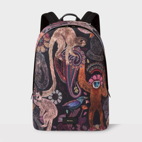 Paul Smith Men's Canvas 'Monkey' Print Backpack