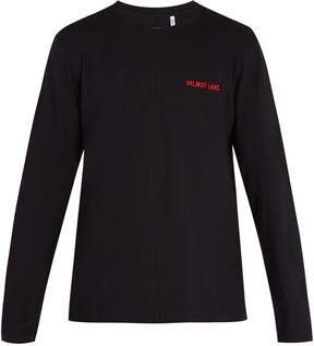 Helmut Lang Logo-embroidered long-sleeved cotton T-shirt