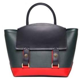 Sacai Hybrid Medium Colorblock Leather Tote