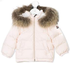 Moncler fur trimmed hooded jacket