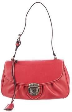 Marc Jacobs Leather Flap Shoulder Bag - PINK - STYLE