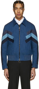 Neil Barrett Indigo Denim Modernist Jacket
