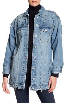 Blank NYC BLANKNYC Long Line Studded Denim Jacket