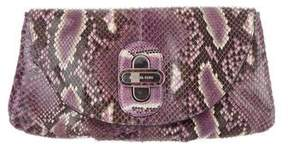Michael Kors Python Flap Clutch - PURPLE - STYLE