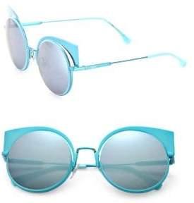 Fendi 53MM Mirrored Cat's-Eye Sunglasses
