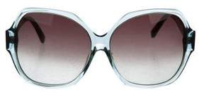 Swarovski Oversize Logo Sunglasses