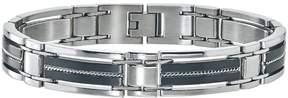 Ice Men's Braided Bracelet in Stainless Steel Black
