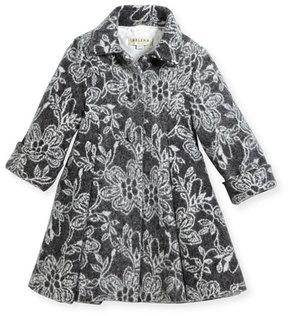 Helena Floral Topper Coat, Size 7-14